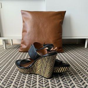 Lucky Brand leather wedge heel
